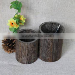 Round burning color office use wooden pencil holder