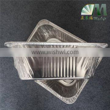 A19 5400ml high quality food grade aluminium foil fast food container with lid