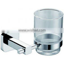 bathroom accessory tumbler holder with glass cup
