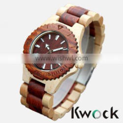 Custom made sandalwood watch, attractive wrist wooden watch with Japan movement