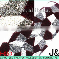 new pattern rhinestone mesh 24*40 cm hot fix rhinestone sheet