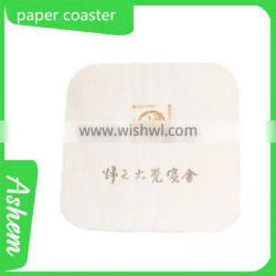 hot sale customized disposable cup mat with LOGO printing ,M-330