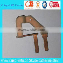 Stamping bending with injection plastic/Customized Overmolding parts(Brass with plastic material together)