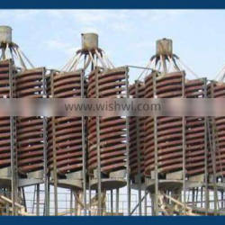 Gravity spiral chute separator used in mining