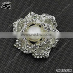 New Rhinestone Rrooches Flower Design for Clothing