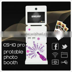 2015 new products fun photo portable photo booth for commercial advertising