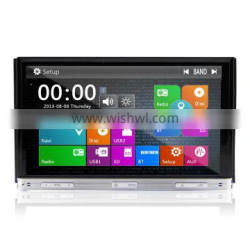 7 inch Double Din Car DVD Player Touchscreen Wince 6.0 Version Dual Core MTK3360 With Radio Wifi 3G GPS Bluetooth TV Universal