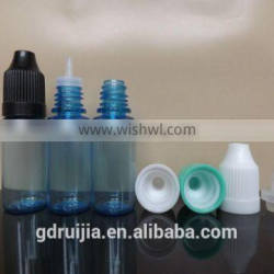10ml blue color pet eye drop bottle with childproof cap