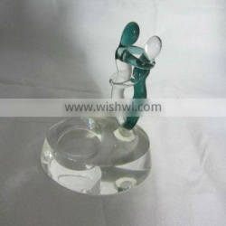 Abstract Crystal Candle Holder For Weeding Table Decoration
