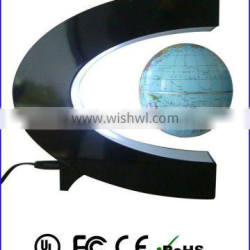magnetic levitation C shape globe display stand for gift