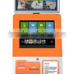 """19"""" floor stand touch kiosk vendor machine for passenger ticket, Automatic Ticket Issuing Machine"""