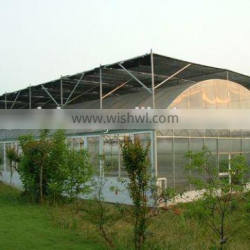 Independent external blinds plastic greenhouse arch