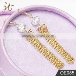 Fashion high quality stainless steel gold color earrings
