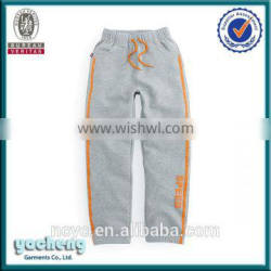 hot sales boys and girls OEM factory custom design cheap soft long sweat pants baby pants chino pants