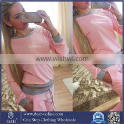 Women Sweatshirt Pants 2 Pcs Custom Made Wholesale Sweat Suits