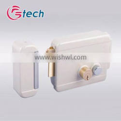 Electric rim lock with brass pin cylinders remote control electric door lock
