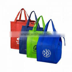 Low price insulated cool wine lunch cooler bag with Zip Closure,ice cream cooler bag for USA Quality Choice