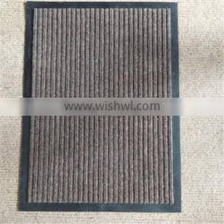 Pvc Backing Polyester Needle Punch Stripe Mat Outdoor Carpet