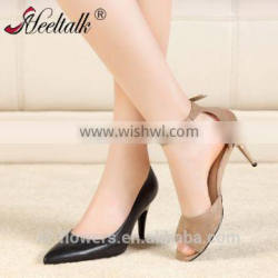 New patent ladies shoes folding heel high heels