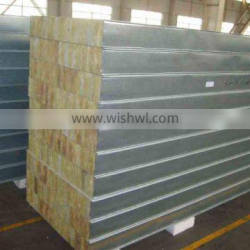 China High Quality Galvanized Color Steel Rock Wool Sandwich Panels