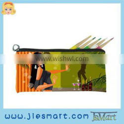 pencil bag sublimation printing MOQ free