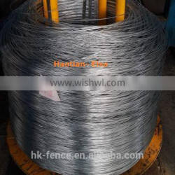 3.75mmX500kg hot dipped galvanized mild steel iron wire coil for chain link fence selling well in Saudi Arabia
