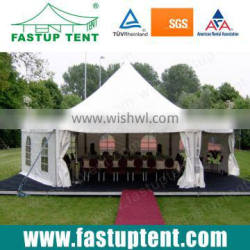 Hot selling hexagonal pagoda pinnacle tent transparent roof cover