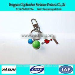 factory supply ball shape cheap price metal keychain