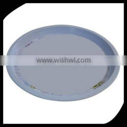Promotional use customized big round tin tray and tin plate for restaurant