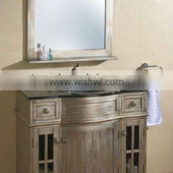 High Quality Bathroom Cabinet With Marble Top;Hand Carved Mirror Cabinet,Classic Bathroom Cabinet;Bathroom Furniture(BF08-4006)