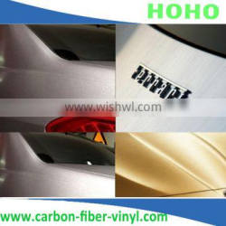 Silver brushed Vinyl Wrap Car Sticker Film / High Quality Carbon Sheet