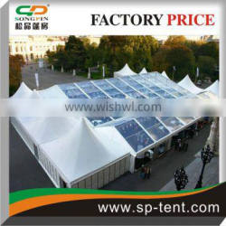 Combination clear top roof wedding tent for sale 30x40m,10x40m,10x10m