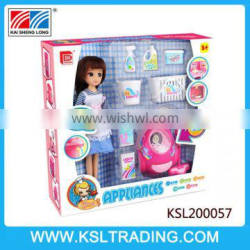 Hot sale doll with cleaner suit play child toy for kids
