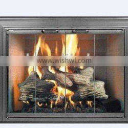 fireplace glass of home