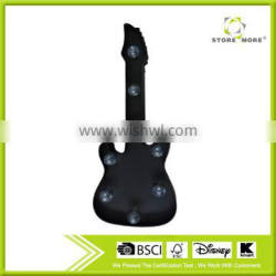 Decor Marquee Black Guitar Shaped Metal Wall Art LED