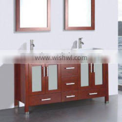 Modern solid oak wood bathroom vanity