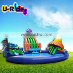Giant Commercial Mobile Octopus inflatable water park for aqua water park