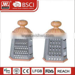 Haixing kitchen stainless steel multi 4 side cheese carrot and vegetable box grater slicer set with container