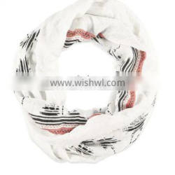 wholesale hot selling cheap price white scarf palm striped tree print scarf for women