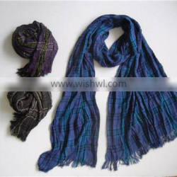 100% knitted viscose woven scarf