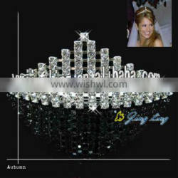 new custom design wholesale small mini pageant crown cheap tiara