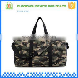 Factory OEM design large travel camo duffel bag fashion canvas