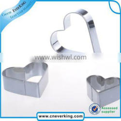 eco-friendly stainless steel cookie cutters biscuit mold for child
