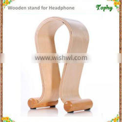 Wooden Products Wood Headphone Holder Stand, Headset Stand