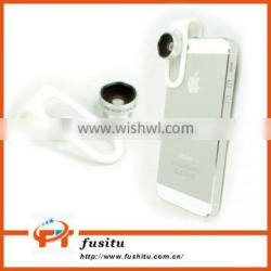0.65 Wide + Macro Lens With Clip Clamp For iPhone Samsung Cell Phone Camera Lens