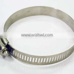 12.7mm bandwidth high torque perforated band buckle covered worm gear drive pipe clamp / hose clamp