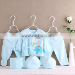 Factory Price baby clothes set 6pcs in 1 set soft cotton newborn baby gift set