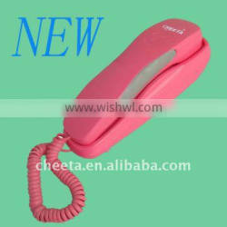 Lovely Pink Trimline Wall Mountable Phone