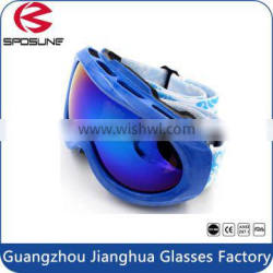 New arrival PC snowboarding goggles windproof anti fog protective snow ski goggles for kid