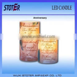 cheap led candle customized design/ fro aniversary